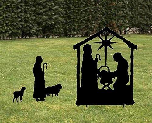 - Nativity Scene / Silhouette / Garden Stake