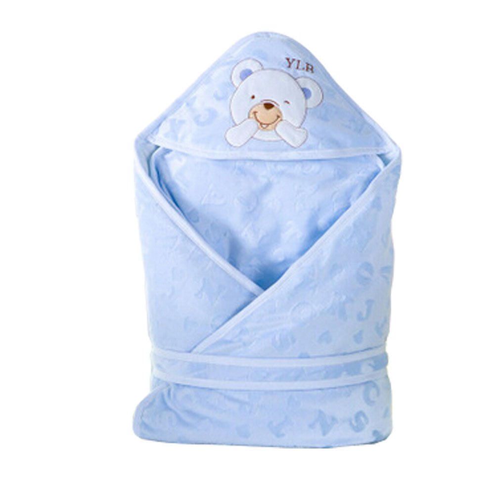 Winter/Fall Thicken Cotton Swaddle Baby Adjustable SleepBag, blue Blancho Bedding