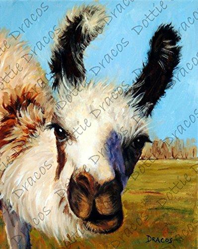 Amazon Com Llama Art Print Llama Tri Colored Llama Llama Art