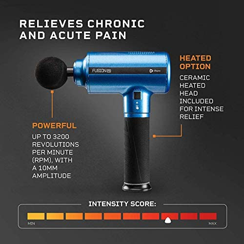 Fusion FX Heated Percussion Massage Gun – Deep Tissue Massager for Muscle Pain Relief, Enhanced Recovery for Athletes & Percussive Therapy – 3 Auto Modes, 5 Powerful Speeds, Handheld Electric Device 51mS6jiA8IL
