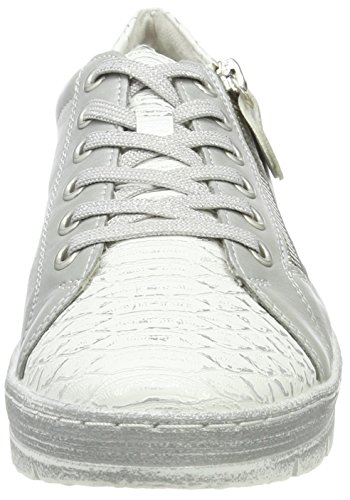 Argento D5800 Low Sneakers Top Remonte silber Women's Weiss HRnWRB