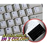 DVORAK SIMPLIFIED NON-TRANSPARENT KEYBOARD STICKERS WHITE BACKGROUND FOR DESKTOP, LAPTOP AND NOTEBOOK by 4KEYBOARD