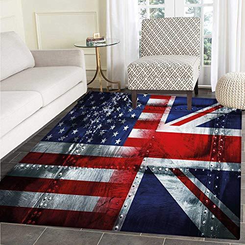 union jack customize floor mats