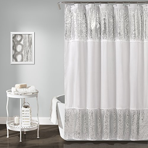 Lush Decor Décor Shimmer Sequins Shower Curtain, 70