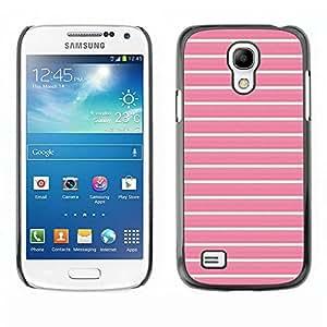 TopCaseStore / la caja del caucho duro de la cubierta de protección de la piel - Teal Pink Pattern Clean - Samsung Galaxy S4 Mini i9190 MINI VERSION!