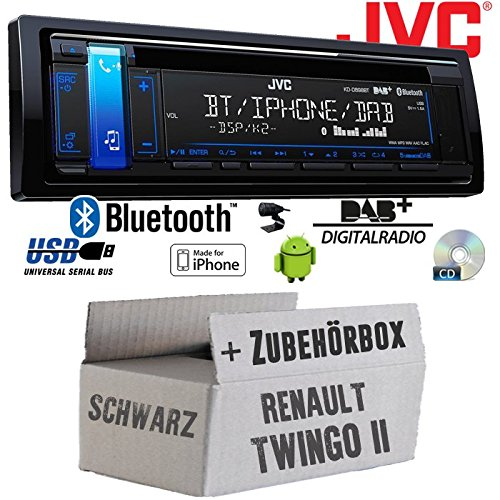 / JVC db98bt/  RENAULT TWINGO 2/ NERO/  / Bluetooth DAB iPhone Android Auto Radio/  / Kit di installazione CD MP3/ USB | |