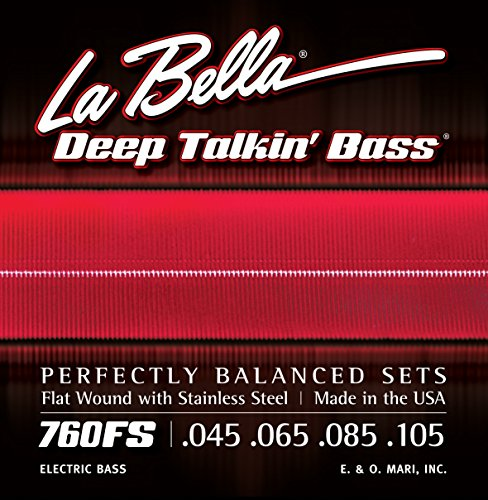 (LaBella 760FS Stainless Steel Bass Guitar Strings, Medium)