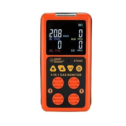 ProbadorMultifuncional Detector Multigas Inicio Alarma De Gas; CO, H2S, LEL y O2, monitor de probador de ...