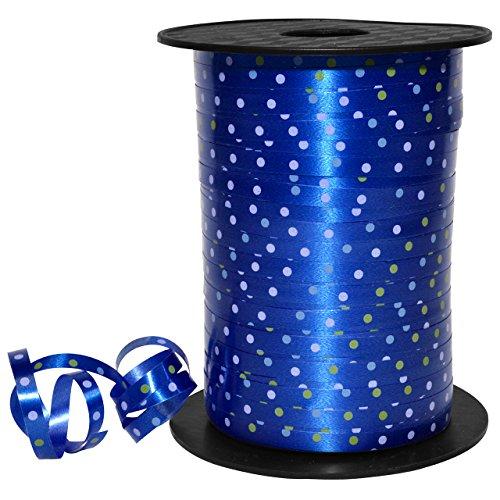 (Morex Ribbon Confetti Curling Ribbon, Polypropylene, 3/16 inch by 500 Yards, Blue, Item 32705/500-614, 3/16