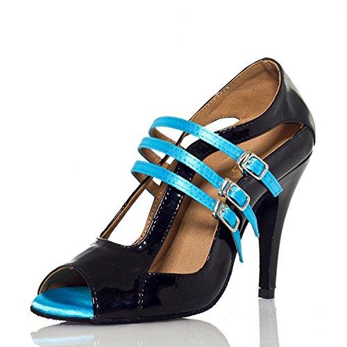 Yff Tango Latina Mujeres Danza Zapatos 5cm Baile De nbsp;don 8 Black qxrXwq7