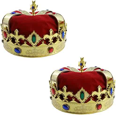Royal Jeweled King's Crown - Costume Accessory - Funny Party Hats