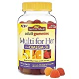 Nature Made – Multi for Her plus Omega-3s Adult Gummies Lemon, Orange & Strawberry – 90 Gummies Review