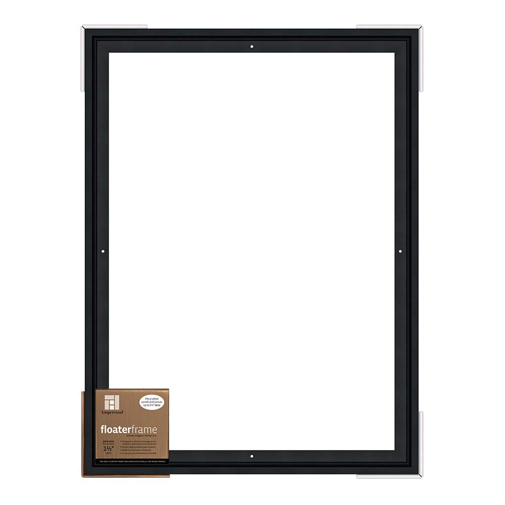 Ampersand Floaterframe for Wood Panels, 1.5 Inch Depth, Bold, 18x24 Inch, Black (FBOLD151824B) by Ampersand (Image #1)