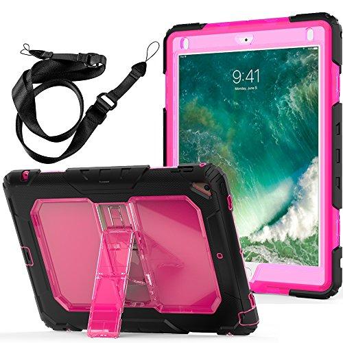 New iPad Case, FITVERS Three Layer Heavy Duty Hard Bumper Ca