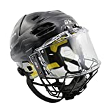 GY SPORTS Ice Hockey Helmet Outside Anti-scratch Inside Anti-fog Visor with Cage Mask