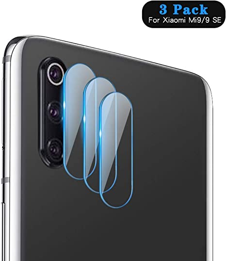 HJX Protector de Lente de Cámara para Xiaomi Mi9/9 SE [3-Pack], 9H ...