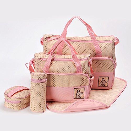 Global- Las mujeres embarazadas Saliendo mochila, tela impermeable de gran capacidad paquete de la momia, de la manera extraña de viaje esencial multifunción mochila ( Color : Rojo ) Pink