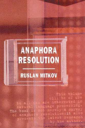 Anaphora Resolution (Studies in Language and Linguistics) Pdf