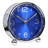 Harryup Homeslike 4-Inch-Children Alarm Clock - Analog Battery Operated Animal Themed (Blue)