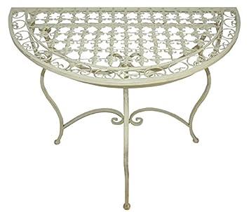 Tisch Beistelltisch Konsolentische Antik Metall Gartentisch Weiss