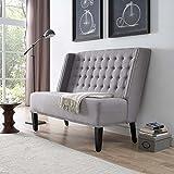 Modern Contemporary Urban Design Living Lounge Room Settee Sofa, Grey Gray, Fabric