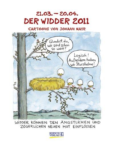 Der Widder im Jahr 2011: Cartoon-Kalender