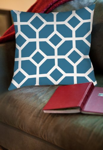 Thumbprintz Square Throw Pillow, 20-Inch, Diamond Links