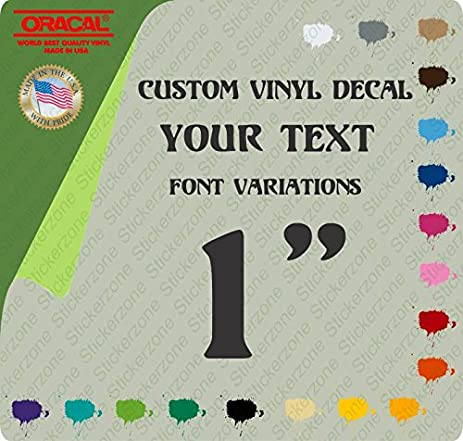 1 custom vinyl lettering text personalized car truck window decal sticker up to 15