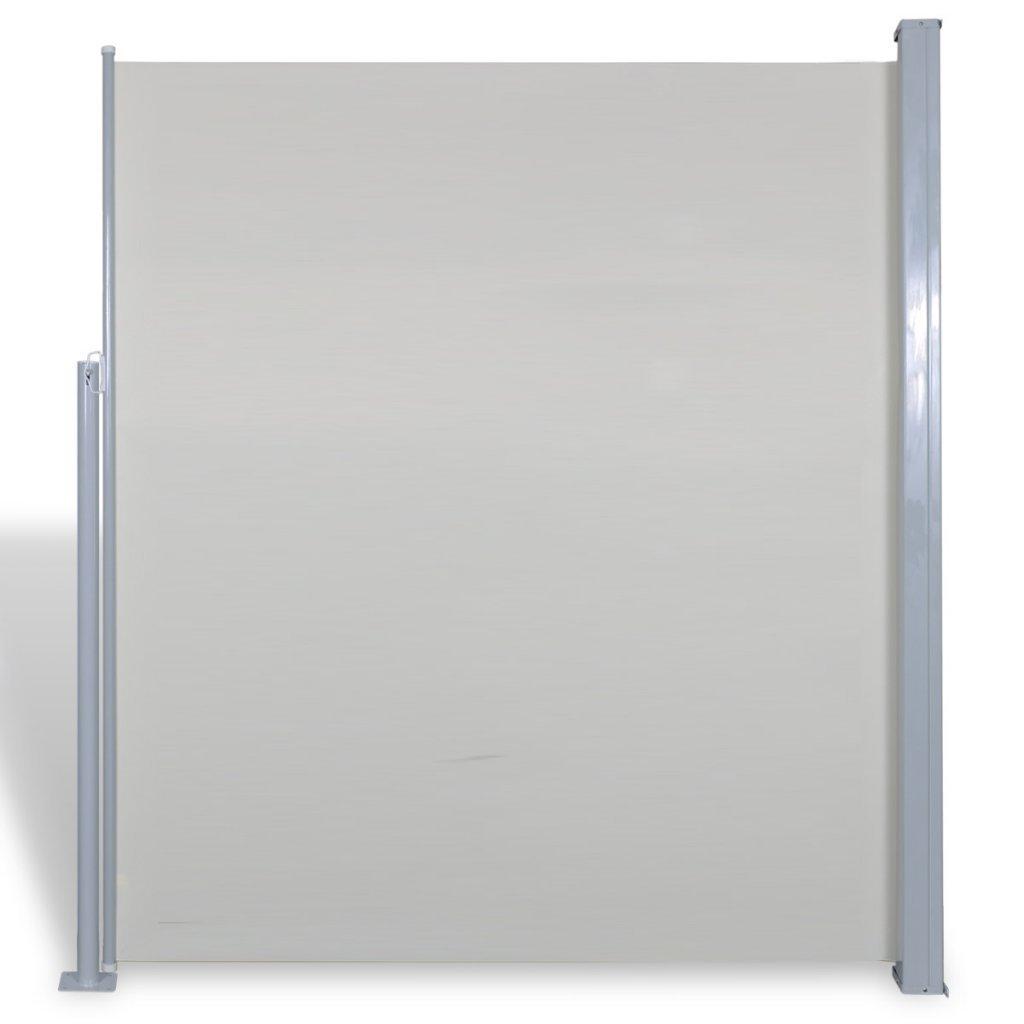 vidaXL Terrasse Seitenmarkise Sichtschutz Sonnenschutz Markise 160x300cm crème