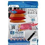 """RoomierLife Premium Jumbo Space Saver Bags 40""""x30"""" 6-Pack Ziplock Vacuum Storage Bags"""