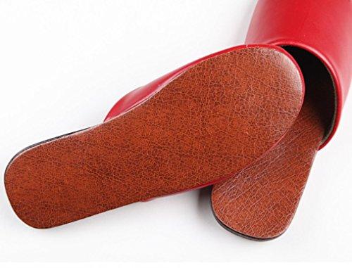 Pantofole Da Camera Da Letto Cattior Solide E Comode Pantofole In Pelle Rossa