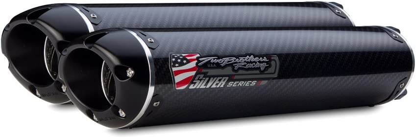 Black Series M-2 Carbon Fiber Canister Slip-On Exhaust System Two Brothers Racing 005-3190407V-B