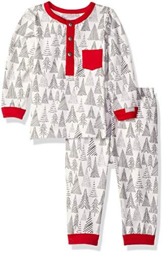 ree Print Jersey Knit Cotton 2 Piece Set, Pewter Tree, 18 Months ()