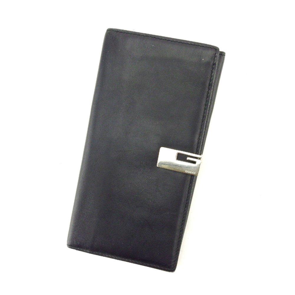 (グッチ) Gucci 長財布 Wホック ブラック Gクリップ レディース メンズ 可 中古 T6207   B079S77CWW