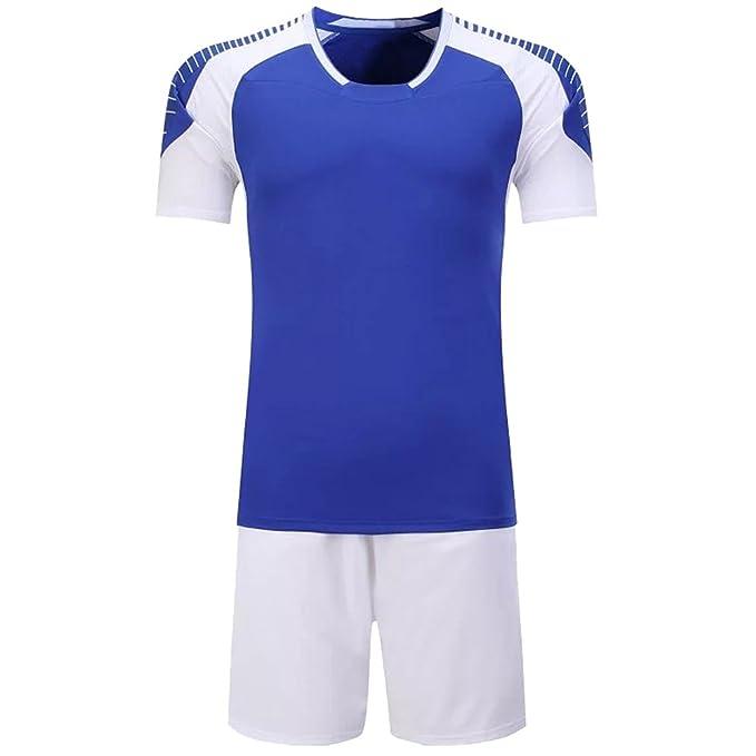 BOZEVON 2018 Hombres Traje de fútbol de Camisetas Pantalones Cortos de Conjunto de Ropa Deportiva Transpirable