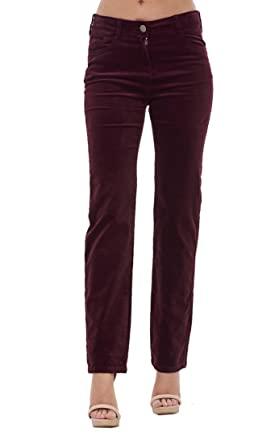 Ex Famous Store Ladies Straight Leg Cords Jeans Womens Stretch Corduroy  Pants d68a83f6a4