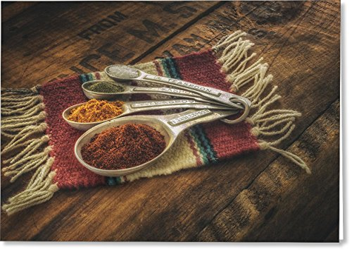 All Occasions Greeting Cards Rustic Spices (single card) Seasons Teaspoon