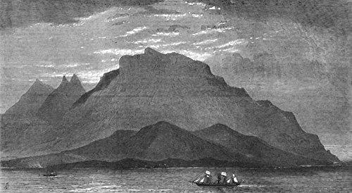 WASHINGTON. Washington rock Island of St Vincent - 1880 - old antique vintage print - engraving art picture prints of Washington Landscapes - The - Antique 1880 Engraving