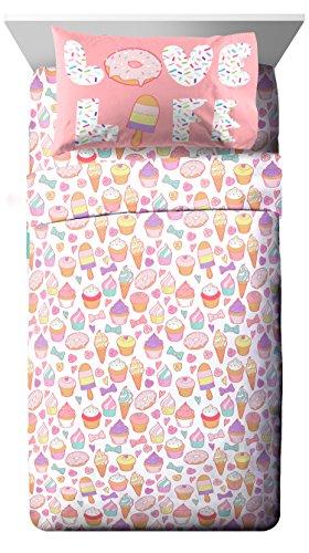 Trend Collector Sweet Dreams White/Purple 3 Piece Twin Sheet Set