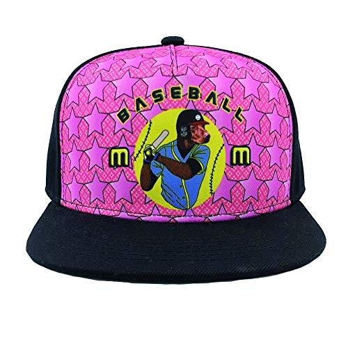 Channel Five Baseball Mom Snapback Hats for Men Adjustable Funny Dog Pink Fitted Hats Baseball Cap