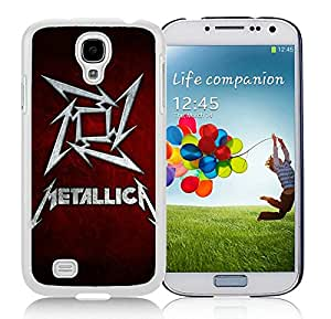 Popular And Unique Custom Designed Case For Samsung Galaxy S4 I9500 i337 M919 i545 r970 l720 With Band Metallica White Phone Case