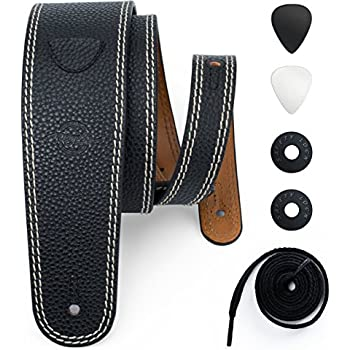 Amazon Com Planet Waves Embossed Leather Guitar Strap