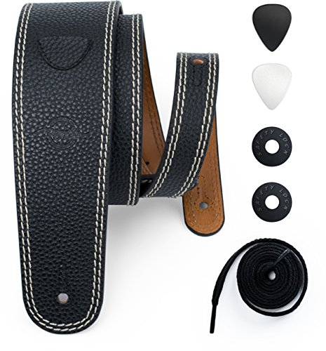 POYOLEE Leather Guitar Strap for Acoustic, Electric and Bass