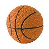 Basketball. 100% natural rubber (latex). Lead-free & chemical-free. Complies to same safety standards as children's toys. Soft & squeaky. Best dog toy for medium-to-large dogs. Handmade in Morocco.