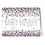 Best Note Card Cafe Birthday Cards - 24 Note Cards - Purple Confetti Birthday Review
