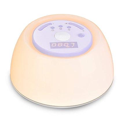 G-Licky Luz de Despertador Simulado Amanecer y el Atardecer Lámparas de Noche, LED