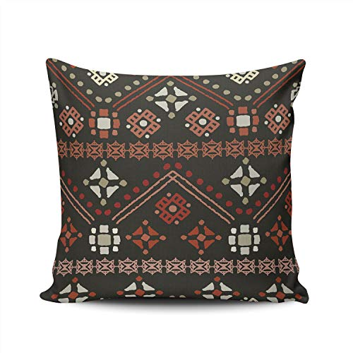 MUKPU Pillow Covers Ethnic Boho Tribal Throw Pillow Case Hidden Zipper Decorative Custom Pillow Cases Double Sides Printed Square 16x16 Inches