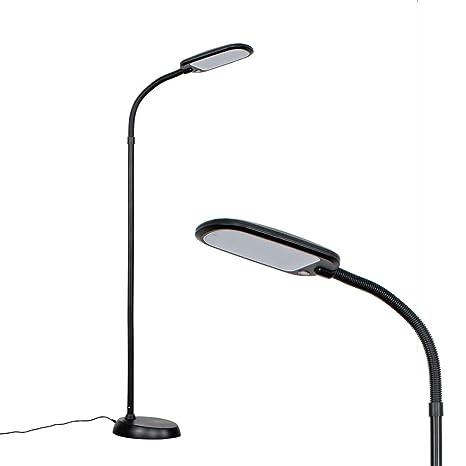 MiniSun - Moderna lámpara de pie LED Kiwi - Con función de luz regulable, cuello flexible - Ahorro energético