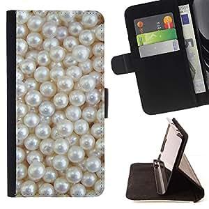 Blanca Rich joya de la perla de la gema- Modelo colorido cuero de la carpeta del tirón del caso cubierta piel Holster Funda protecció Para Sony Xperia M2