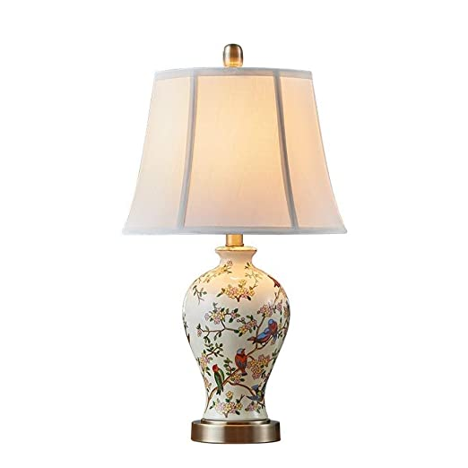 ZHAO YING Lámpara de Mesa, lámpara de Mesa de cerámica Europea ...